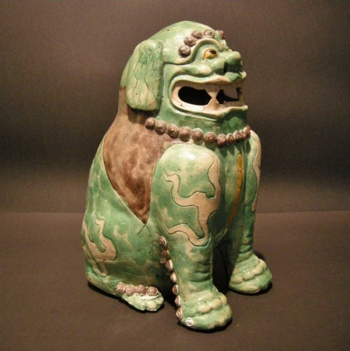 Important Fo dog biscuit  - Kangxi period 1662/1722 - Asian Art & Antiques Style
