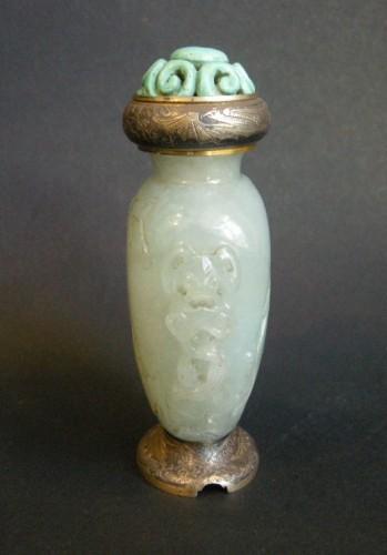 Asian Art & Antiques  - snuff bottle Jadeite sculpted  circa 19th century
