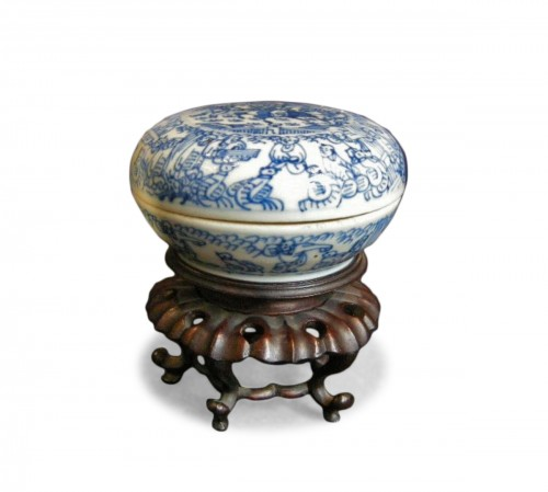 Box porcelain blue and white   - Kangxi period 1662/1722