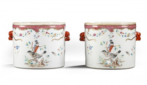 Pair wine coolers porcelain - Chinese export - 18° century