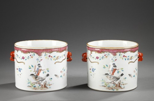 Pair wine coolers porcelain - Chinese export - 18° century - Asian Art & Antiques Style