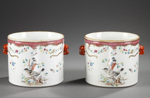 Asian Art & Antiques  - Pair wine coolers porcelain - Chinese export - 18° century
