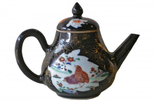 "wine pot  ""Famille Noire"" porcelain - Yongzheng period   1723/1735"