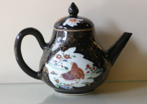 "wine pot  ""Famille Noire"" porcelain - Yongzheng period   1723/1735 - Asian Art & Antiques Style"