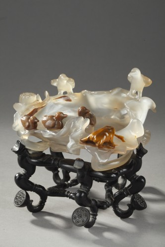 brush washer agate - about 1900 - - Asian Art & Antiques Style