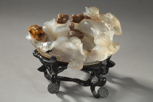 brush washer agate - about 1900 - -
