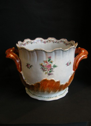 "Asian Art & Antiques  - Coolers ""Rocaille shape in Famille rose porcelain"