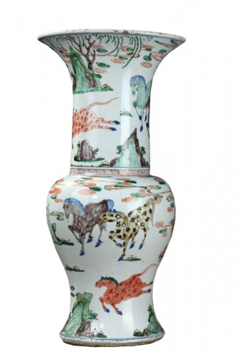 "Vase ""Yen Yen""  Famille verte porcelain - Kangxi period 1662/1722"