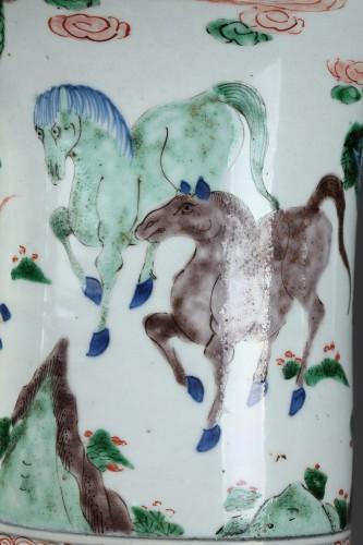 "Vase ""Yen Yen""  Famille verte porcelain - Kangxi period 1662/1722 -"