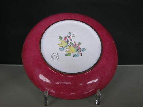 Dish Canton enamel  - Circa 1730/1740 - Asian Art & Antiques Style