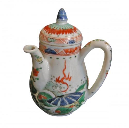 """rare ewer """"famille verte"""" - Kangxi period 1662/1722"""