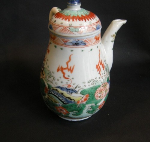 "rare ewer ""famille verte"" - Kangxi period 1662/1722 - Asian Art & Antiques Style"