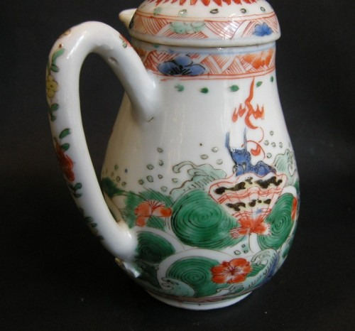 "Asian Art & Antiques  - rare ewer ""famille verte"" - Kangxi period 1662/1722"