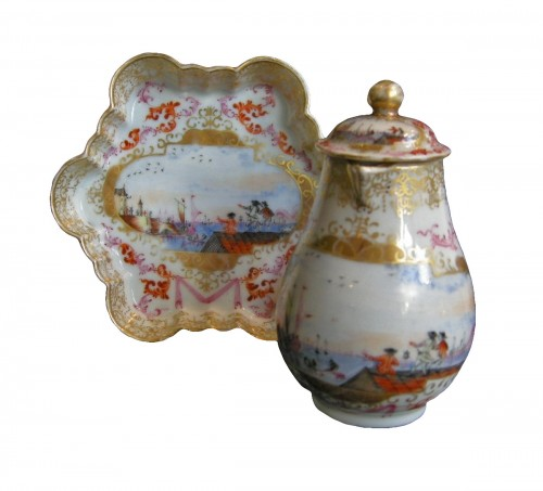 Milk pot and stand  Meissen style  - Qianlong 1736/1795 -