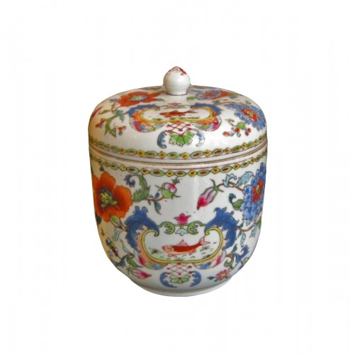 Pot and cover Famille rose porcelain - Circa 1745 -