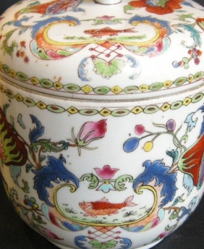 Asian Art & Antiques  - Pot and cover Famille rose porcelain - Circa 1745 -