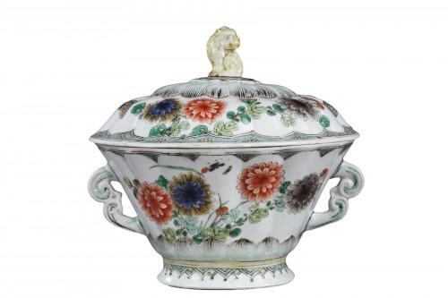 "Ecuelle porcelain ""Famille Verte"" - Kangxi period 1662/1722"