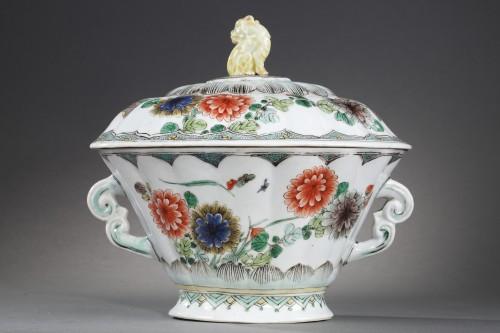 """Porcelain & Faience  - Ecuelle porcelain """"Famille Verte"""" - Kangxi period 1662/1722"""
