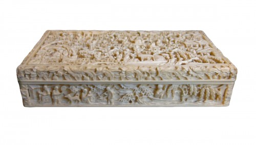 Ivory Box sculpted - Canton 1800/1850