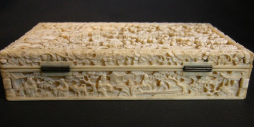 Ivory Box sculpted - Canton 1800/1850 - Asian Art & Antiques Style