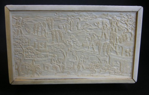 Ivory Box sculpted - Canton 1800/1850 -