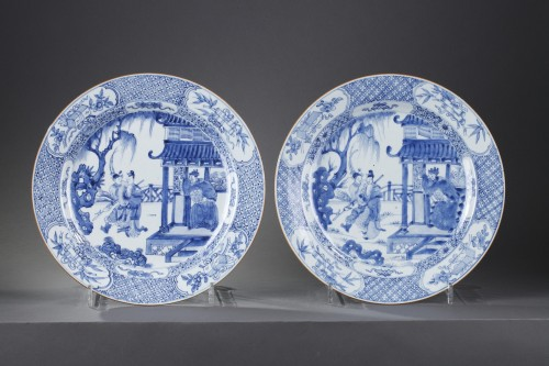 "Pair of dish ""blue and white "" porcelain - circa 1720/1725 -"