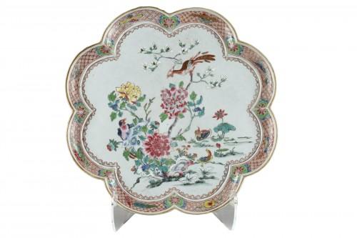 "Rare presentation tray  ""Famille rose porcelain"" - Yongzheng 1723/1735"