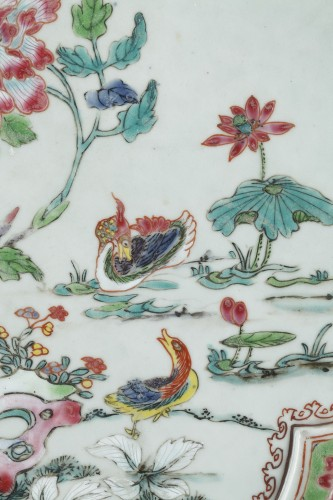 "Asian Works of Art  - Rare presentation tray  ""Famille rose porcelain"" - Yongzheng 1723/1735"