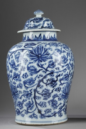 "Pair of vases  "" Blue and White"" porcelain -Kangxi period 1662/1722 - Asian Works of Art Style"