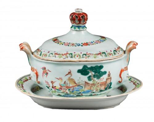 "Rare tureen ""Famille Rose"" porcelain - Qianlong period 1736/1795"