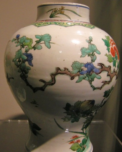 "Pair vases "" Famille Verte "" - Kangxi period 1662/1722 - Asian Works of Art Style"