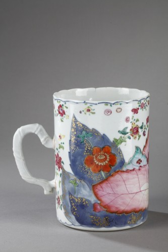 Mug porcelain Chinese export decorated with tobacco leaf -Circa 1775 - - Asian Works of Art Style