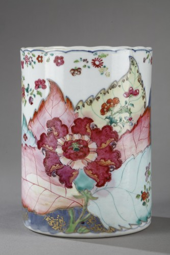 Asian Works of Art  - Mug porcelain Chinese export decorated with tobacco leaf -Circa 1775 -