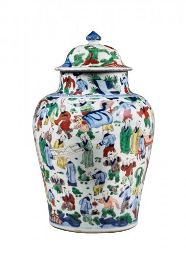 """Vase  """"wucai"""" porcelain - circa 1650/1665 -"""