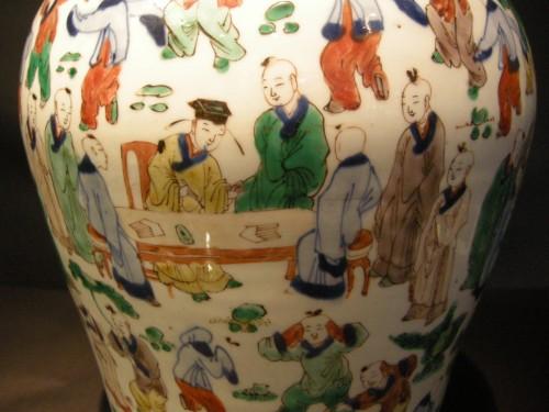"Vase  ""wucai"" porcelain - circa 1650/1665 - - Asian Works of Art Style"