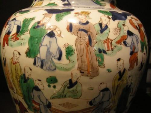 """Vase  """"wucai"""" porcelain - circa 1650/1665 - -"""