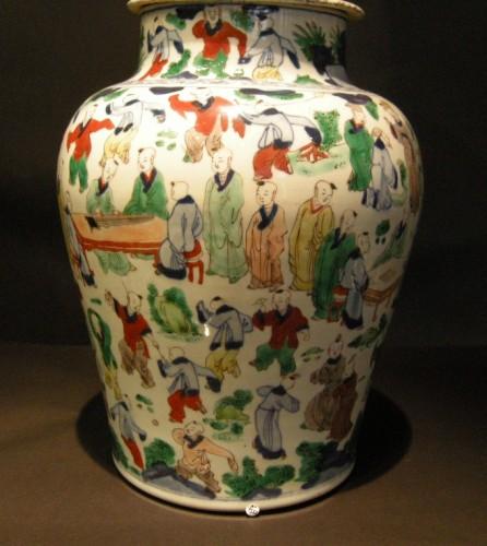 "17th century - Vase  ""wucai"" porcelain - circa 1650/1665 -"