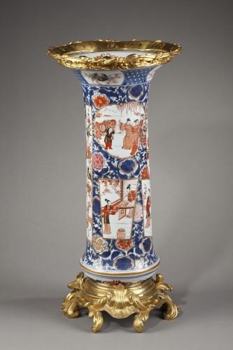 large vase Chinese porcelain  -late Kangxi early Yongzheng -1720/1725 - - Asian Works of Art Style