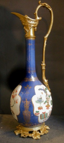 18th century - Pair of vases mounted in ewers - Kangxi period 1662/1722