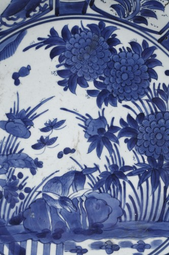 Large dish blue and white porcelain - Japan 1670/1680 -