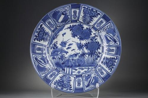 - Large dish blue and white porcelain - Japan 1670/1680