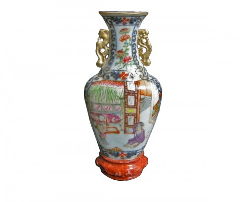 Wall vase porcelain - Jiaqing period  1796/1820