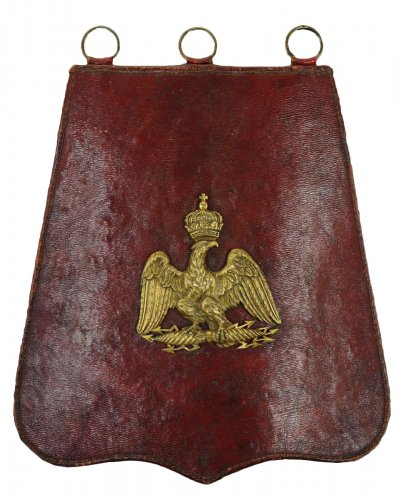Sabretache de petite tenue d'officier de hussards, premier empire