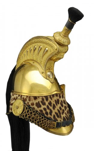 Casque d'officier de dragons, modèle 1845, monarchie de juillet-second empire