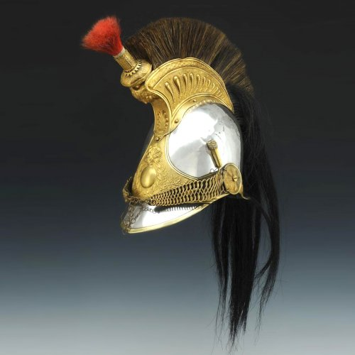 Leather officer helmet, model 1825 modified 1830, monarchy of july