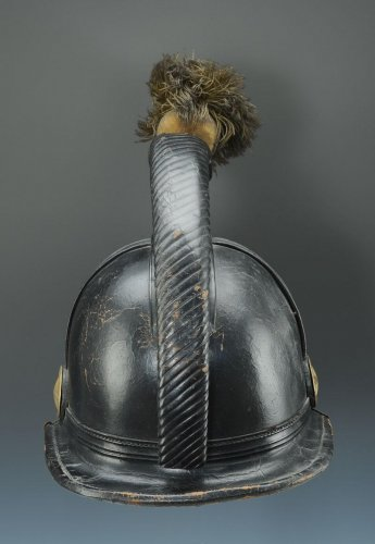 19th century - Helmet of the 45th line infantry regiment, type 1836, monarchy of july (1836-1837).