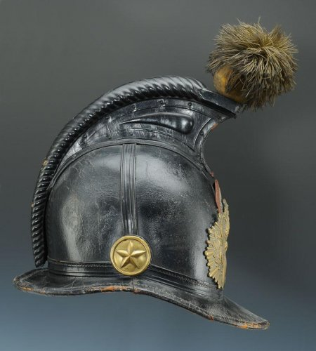 Helmet of the 45th line infantry regiment, type 1836, monarchy of july (1836-1837). - Louis-Philippe