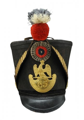 shako of the 65th line infantry fusil regiment, model 1812, first empire