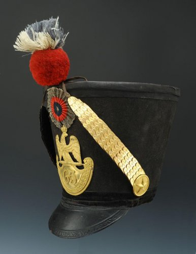19th century - shako of the 65th line infantry fusil regiment, model 1812, first empire