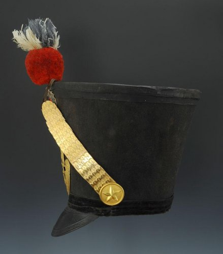 shako of the 65th line infantry fusil regiment, model 1812, first empire - Empire